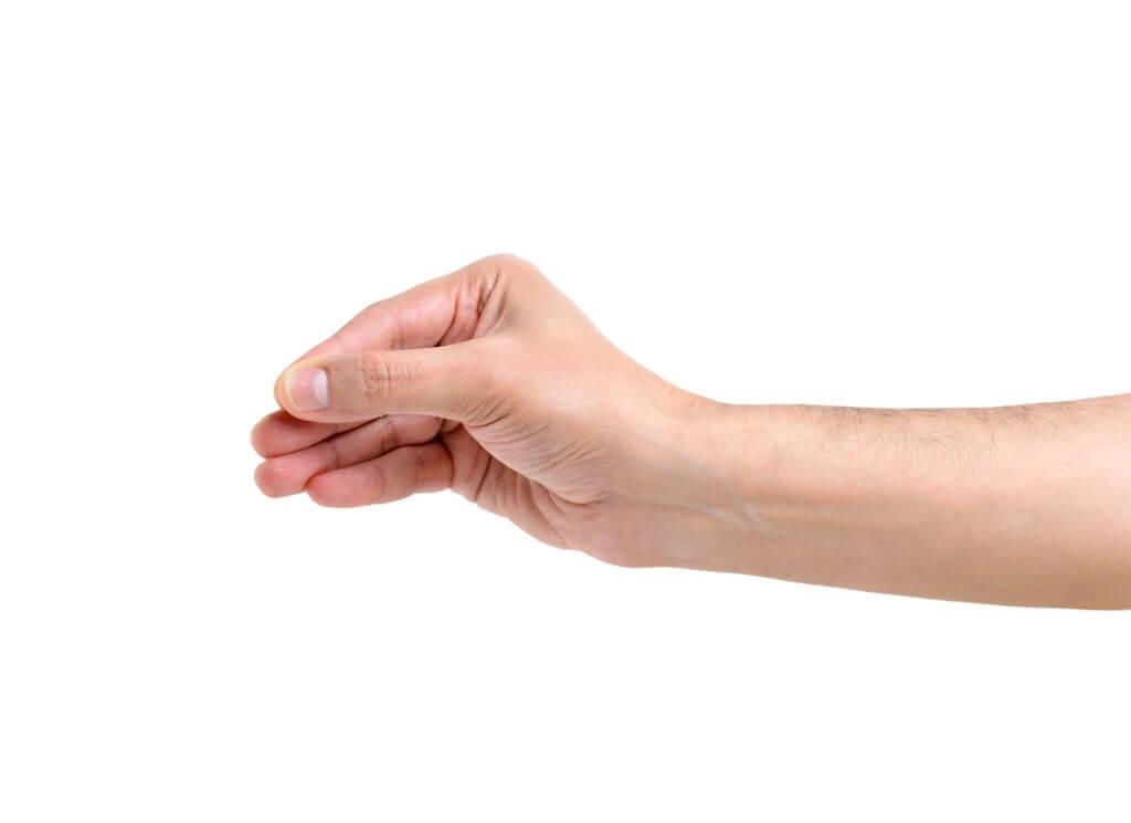 pinching grip