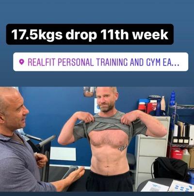 shawn dropped 17 kgs